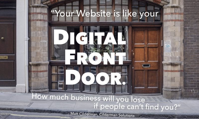 Your webite is your digital front door. How much business will you lose if people can't find you?