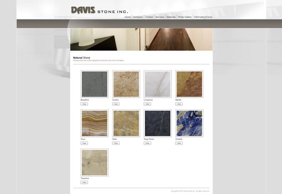 Davis website screenshot #3